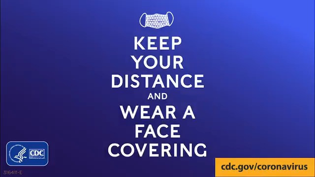You can help slow the spread of #COVID19. Practice #socialdistancing. Keep at least six feet of physical distance between yourself and others. Wear a cloth face covering when in public. More tips at
