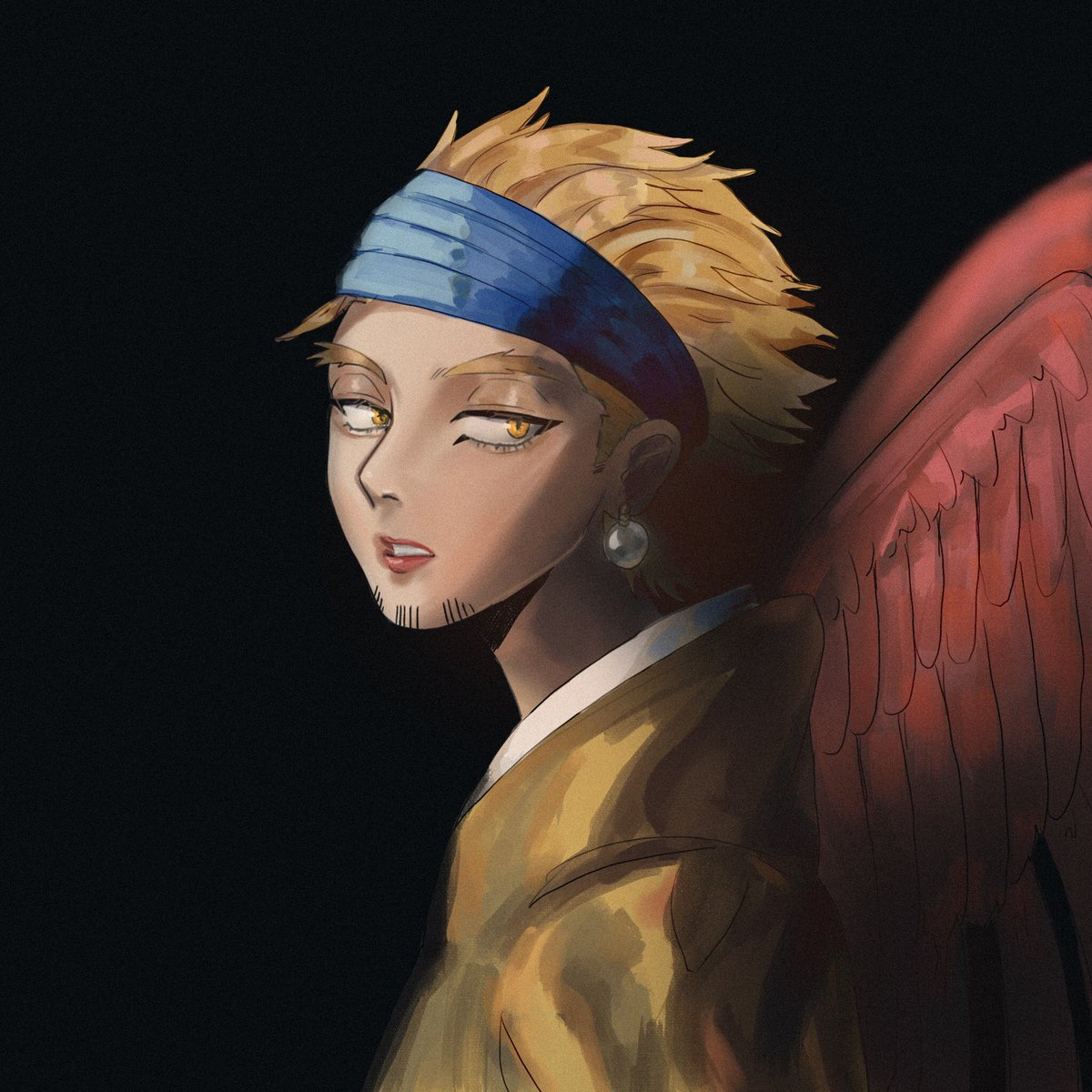 The Bird with the pearl earring #hawks #bnha