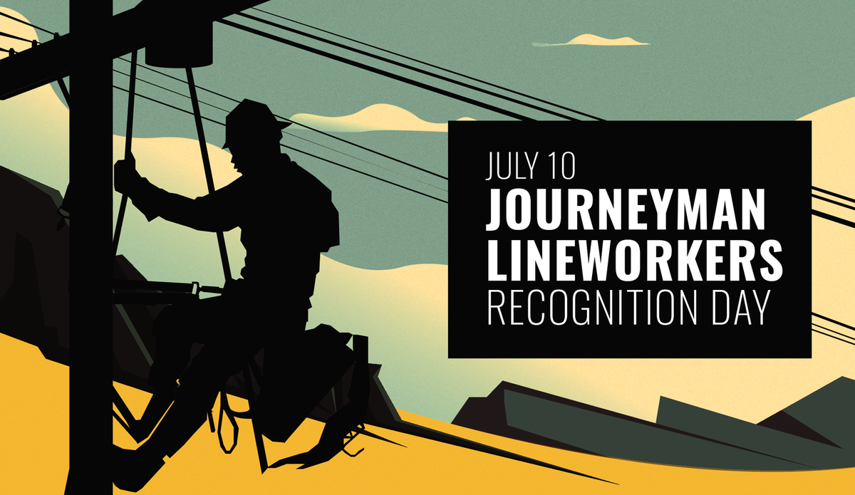From hospitals to homes, lineworkers put themselves in harm's way to keep the lights on across our country. On #LineworkerDay, I'm so proud to lead a resolution with @RepMcKinley & @DonaldNorcross recognizing their dedication, hard work, & sacrifice.