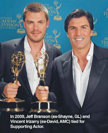 SOAP OPERA DIGEST remembers Daytime Emmy tie win for #GL #JeffBranson and #AMC @VincentIrizarry