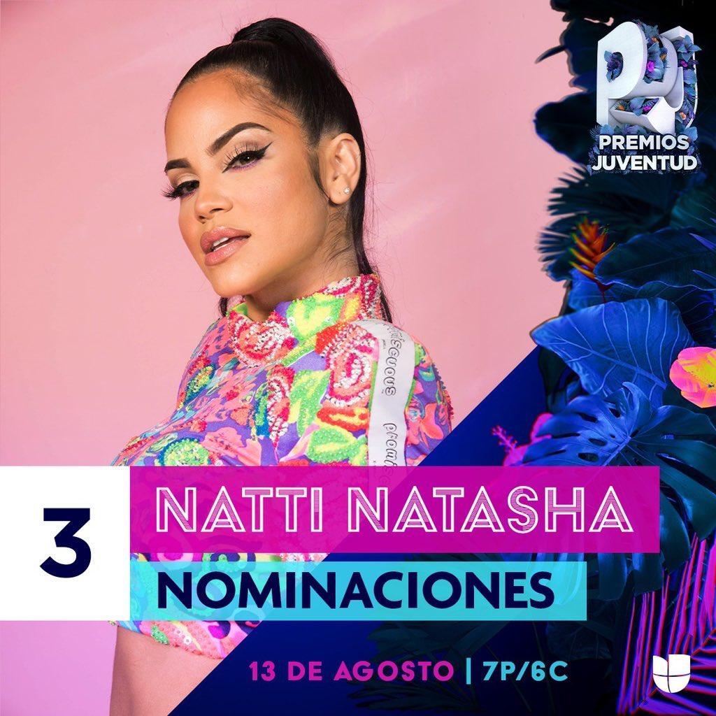Vote Vote Vote 📥 Keep voting for @NattiNatasha in 3 categories:    🔹 Esta En Todas 🔹 Rompiendo Internet 🔹 Video con el Mensaje Mas Poderoso (Me Estas Matando)   👉 #PremiosJuventud 2020 #NattiNatasha