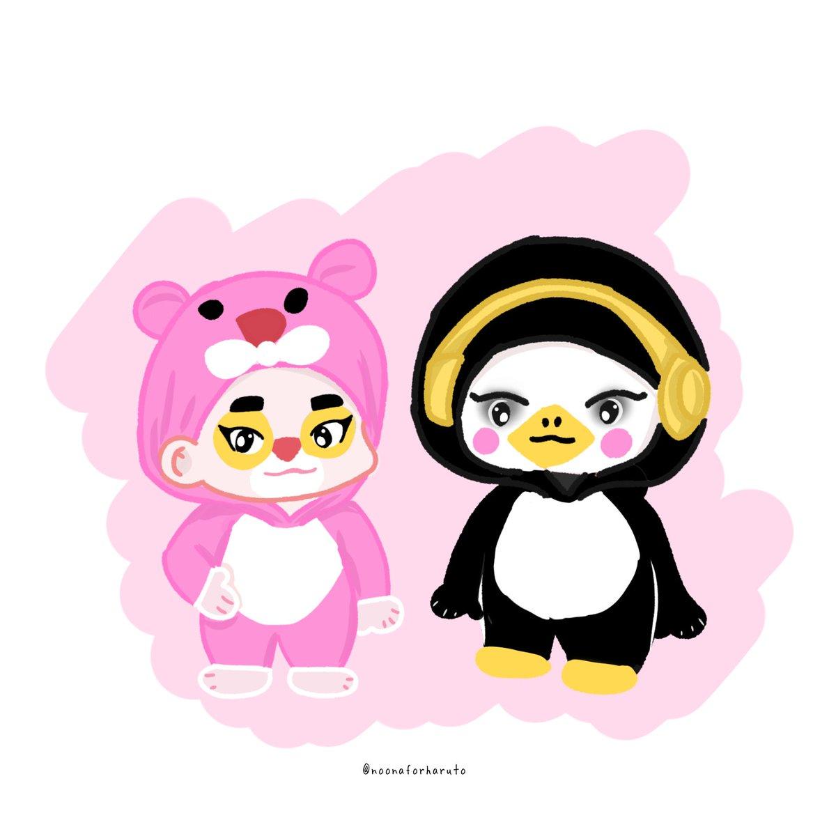 Pink panther & Penguin 🐧  #BANGYEDAM #yedam #방예담 #예담 #parkjeongwoo #박정우 #jeongwoo #정우 #TREASUREfanart