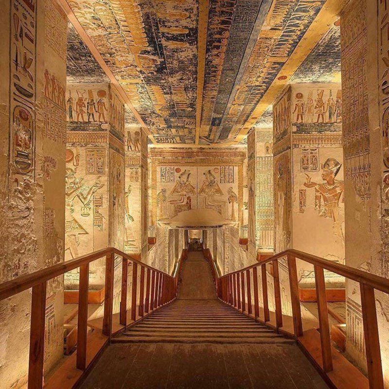 Ramesses VI was the 5th pharaoh of the 20th Dynasty of Egypt (mid to late 12th century BC). He was buried in Egypt's Valley of the Kings, in a tomb now known as KV9. Earlier this year, the Egyptian Tourism Authority released a 3D virtual tour of the tomb