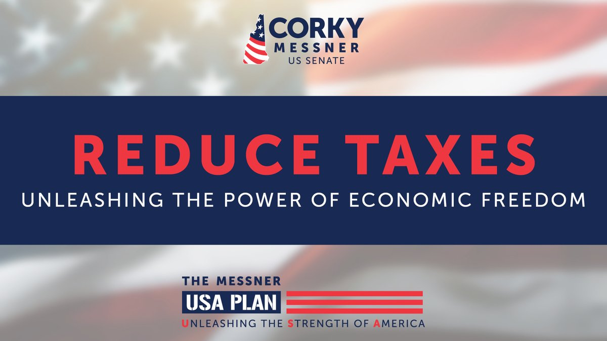 We must reduce federal taxes on small businesses to help revive the economic engine.  We need to bring back the economy so our families can preserve the American Dream. D.C. politicians don't believe in freedom and liberty, we do.  #nhpolitics #NHSen #MAGA2020