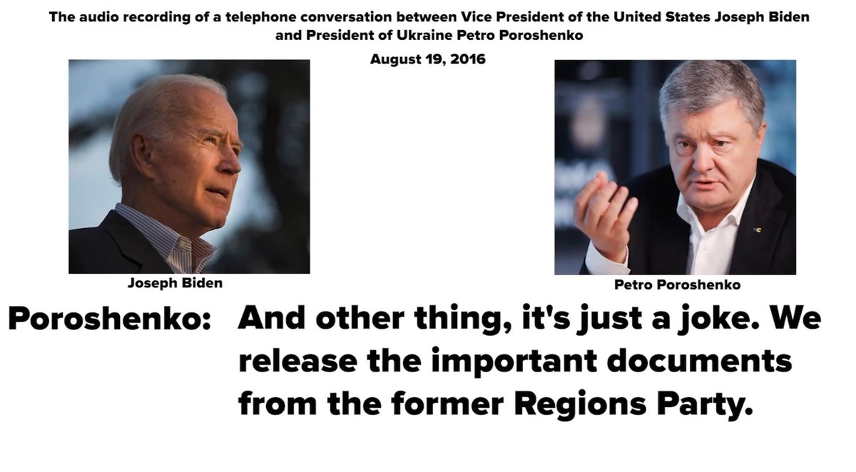 ICYMI: The former president of Ukraine, @poroshenko, admitting to @JoeBiden that he released the @PaulManafort Black Ledger that caused him to resign. If this were Putin would Biden be laughing about this blatant election interference? (H/t @RevisitedRick)