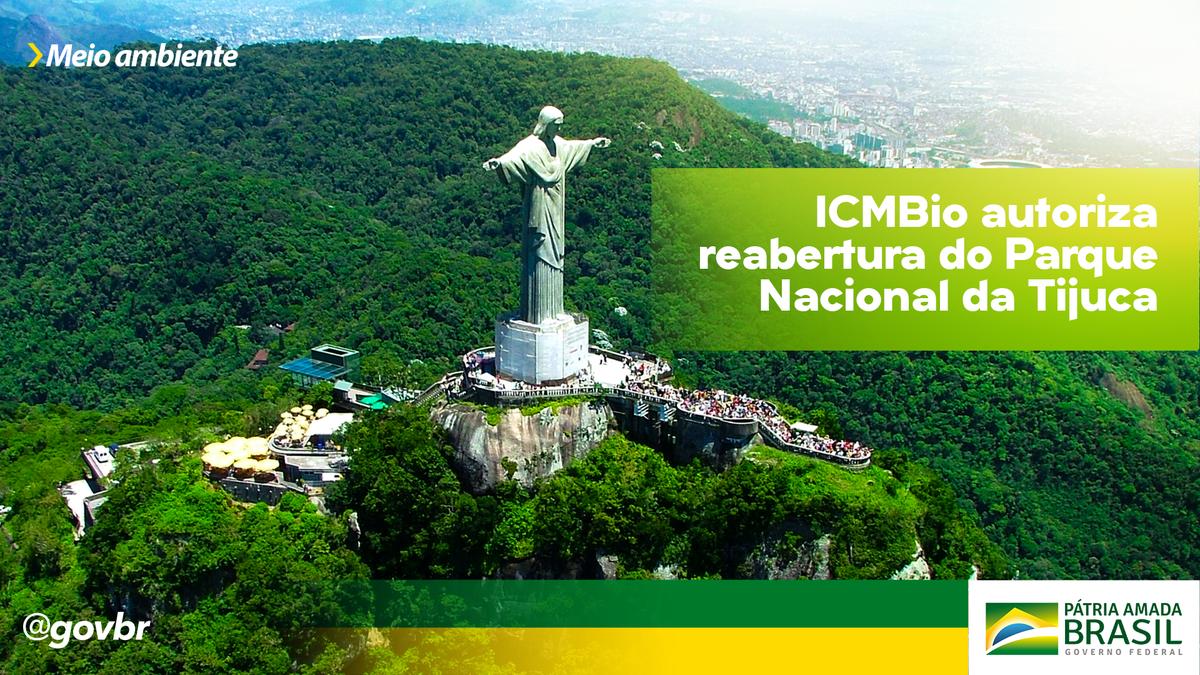 O Parque Nacional da Tijuca, no Rio de Janeiro (RJ), foi reaberto de forma gradual e monitorada à visitação pública para atividades desportivas. Para frequentar o espaço, visitantes devem cumprir protocolos de segurança e normas de prevenção contra a pandemia de coronavírus.