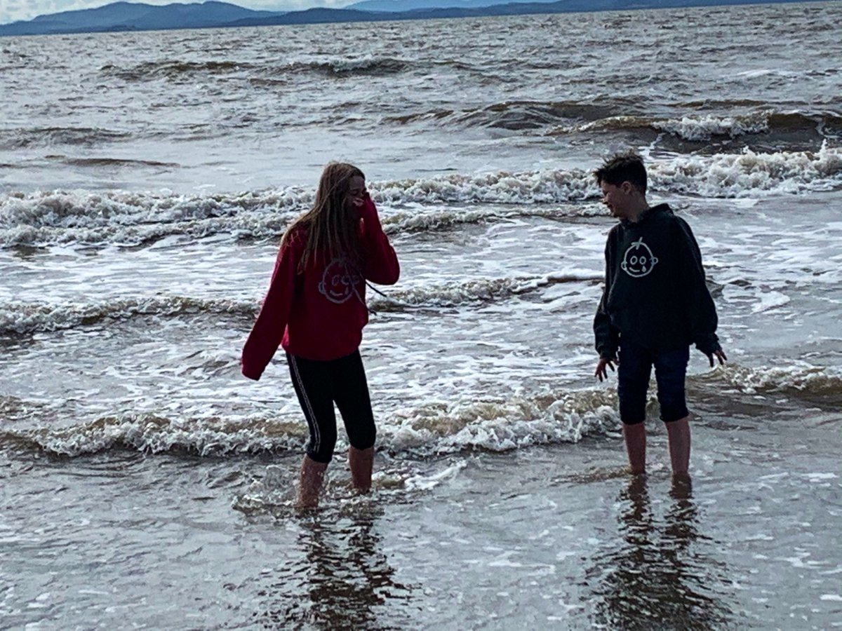 Two mates together having a paddle. @GreatOrmondSt both family's thank you. #chronic #pain #can #kiss #my #arse #crps #JIAwarriors #alwaysfight #matesforever