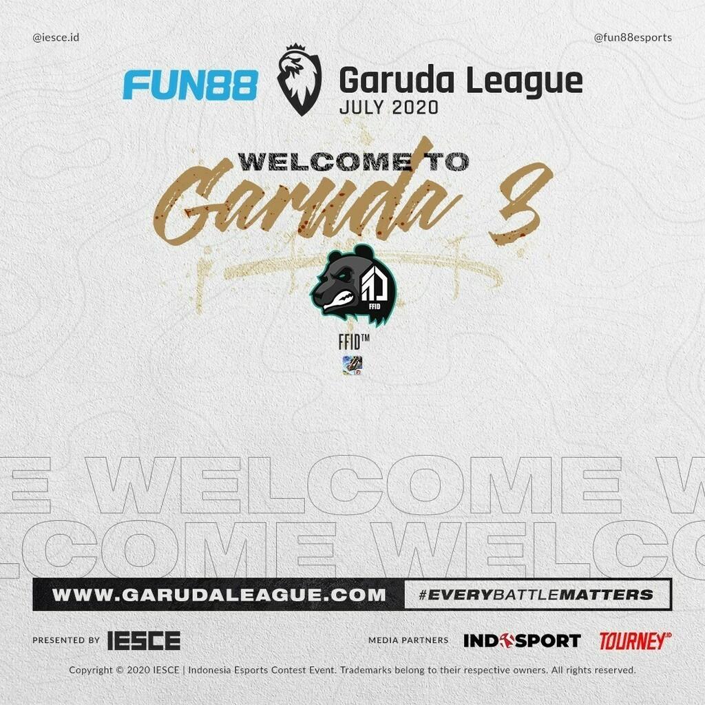 Selamat datang. #GL  Lihat klasemen lengkap di   #fun88garudaleague #garudaleague #fun88 #iesce #garuda #dota #dota2 #pubgm #mobilelegendsgame