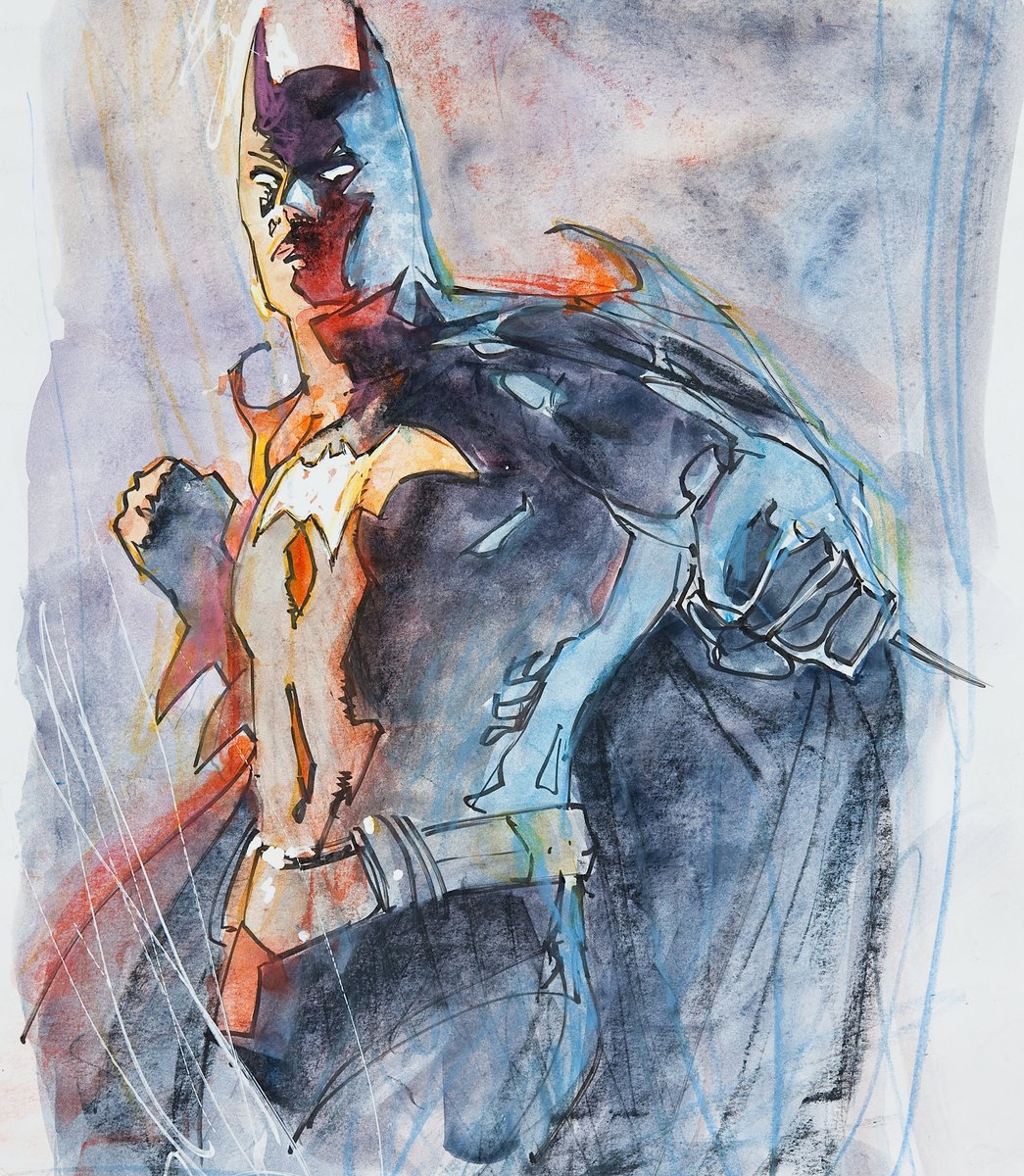 Batman #batman #painting #art #comicartist #dccomics #fridayfeeling