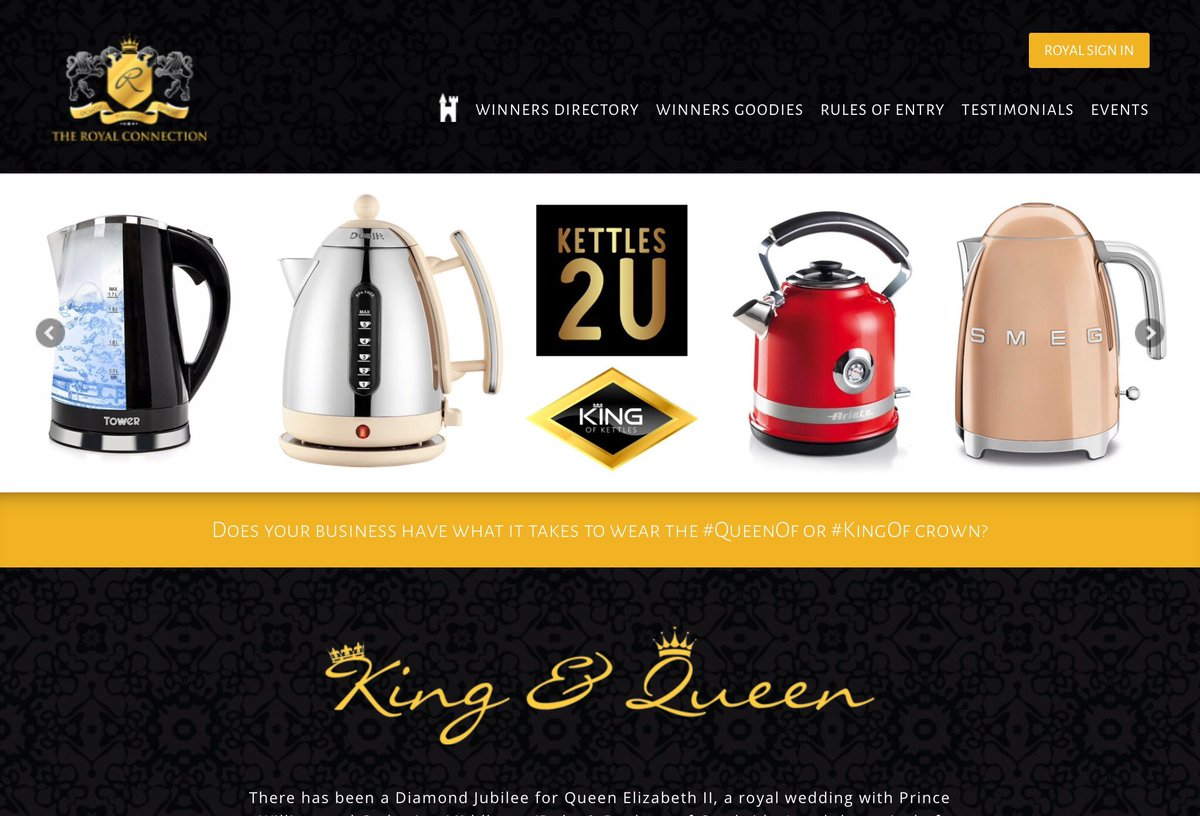 As a #smallbusinessowner #Male #Entrepreneur why not win a regal business crown. It's my #KingOf day #competition with Andy @ADG_IQ every Tuesday 9am - 9pm. Take a look at @kettles2u 😊