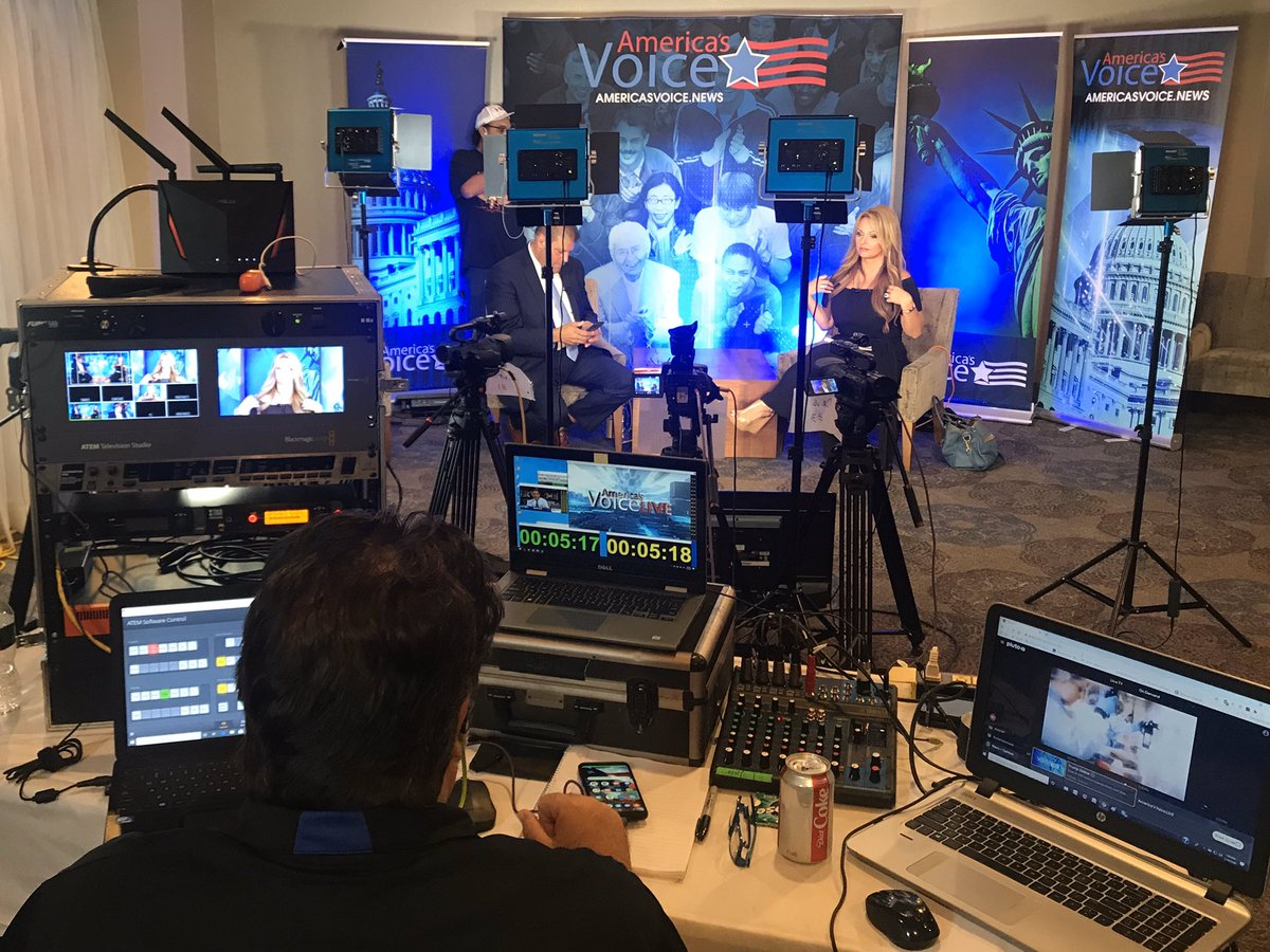 Can Biden hide til Election Day?  Check out our live #TrumpRallyNH coverage on @AVoiceNews. We are live now! The rally might be delayed, but the show must go on! Link to live coverage: