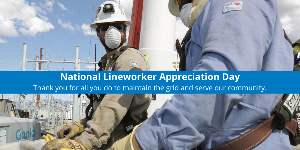 #National Lineworker Appreciation Day honors Henry Miller, the first president of the @IBEW, and the electrical #lineworkers who are dedicated to powering our community with safe, reliable service.