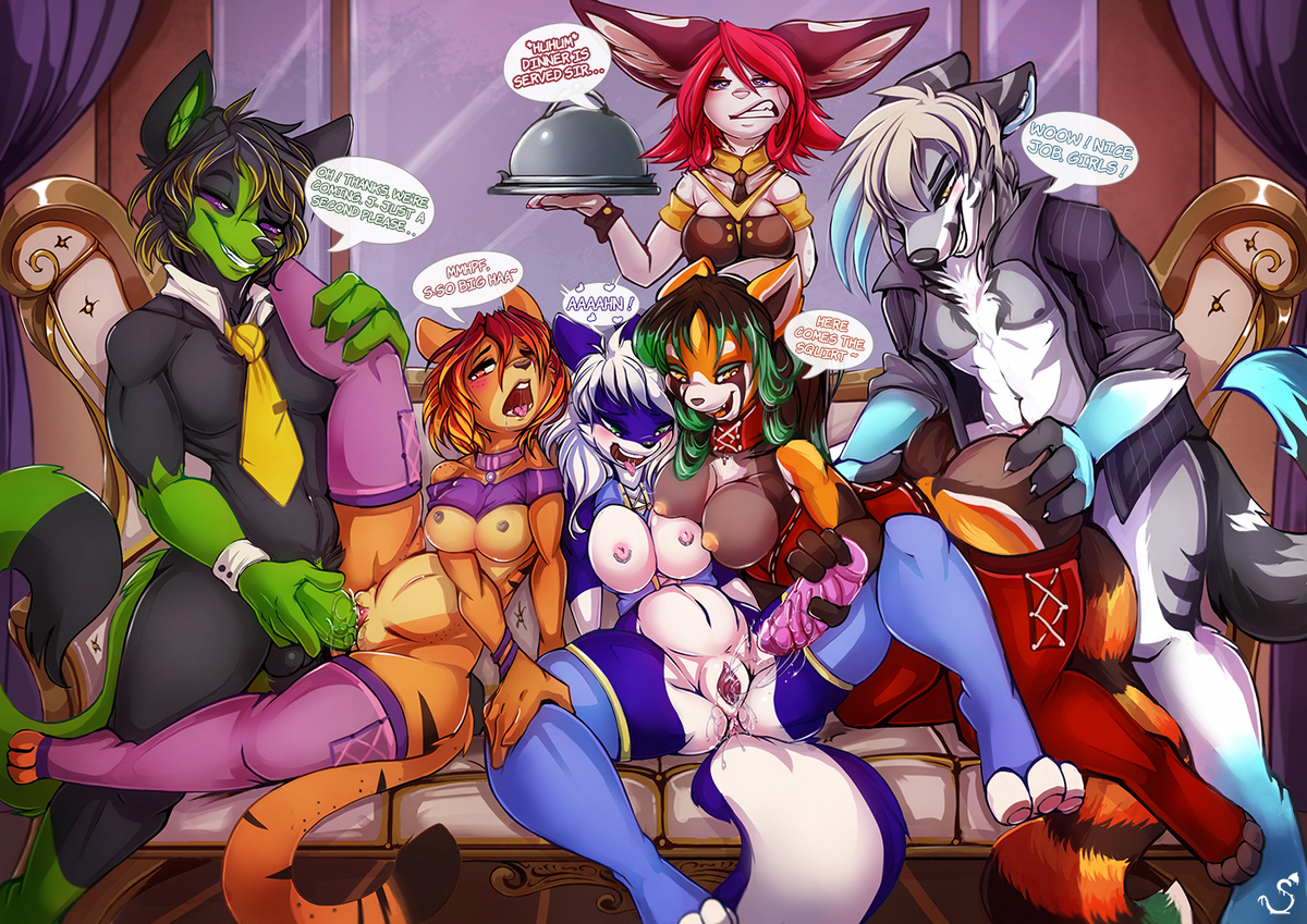 By Request: Bisexual Orgies (male/female, female/female) Requests can be made via direct message     #nsfw #furry #yiff #straight #lesbian #bisexual