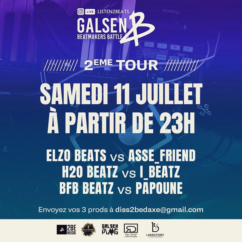 Le concours du GALSEN BEATMAKERS BATTLE revient demain Samedi 11 juillet à 23H #galsenbeatmakersbattle #2bemusik #beatmaking #music #dakar #beatmaker #hiphop #producer #dakarbeatmakers #galsen