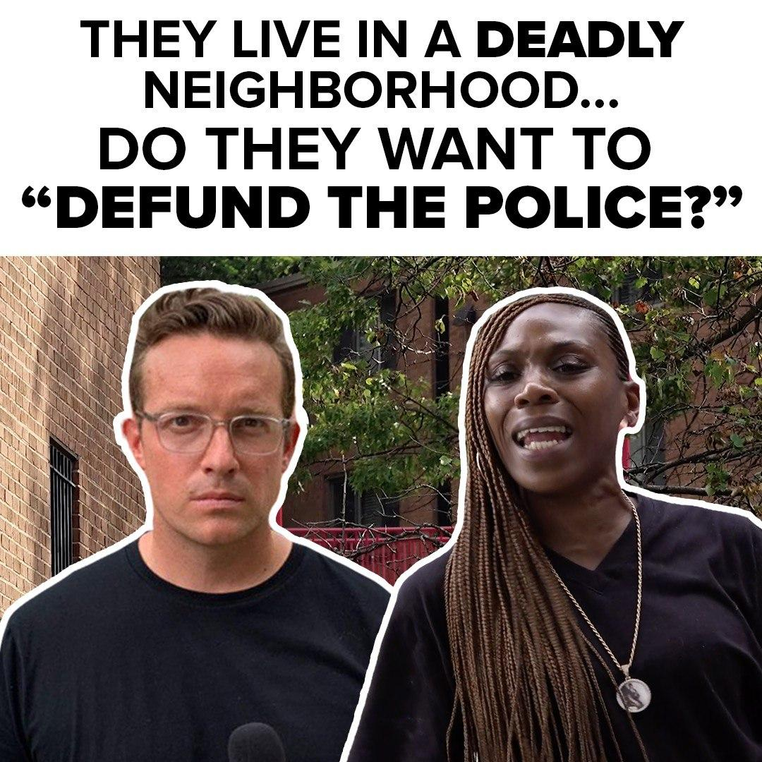 """Leftist Politicians and BLM activists have recently called for the Police to be Defunded or Abolished.  An 11-Year Old Child was Murdered in this neighborhood.  So I asked the residents if they think we should """"Defund the Police""""  Check out what they said:"""