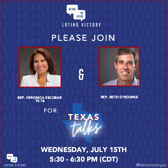 .@LatinoVictoryUS' work has never been more important.  That's why I'm excited to talk Texas with @BetoORourke about the transformational role Latinos will play in Texas and across the country.  Please join us & get your tickets now: