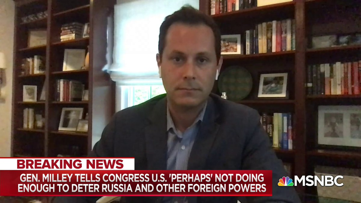 """""""The history of the Trump administration is not filled with people of that stature speaking out quite that forcefully in contrast to what the president's messaging is"""" - @samstein on Chairman of the Joint Chiefs of Staff, Gen Mark Milley w/ @NicolleDWallace"""
