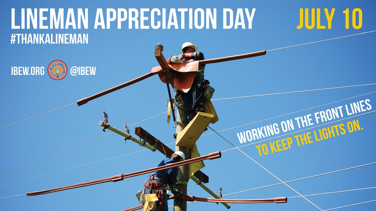Our linemen and linewomen are working on the frontlines, keeping the lights on. Did you #ThankALineman yet?