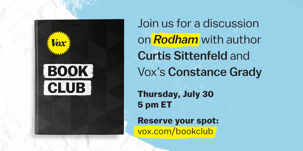 This month #VoxBookClub is reading Rodham, which explores a timeline in which Hillary Rodham never married Bill Clinton.  Join us for a moderated conversation with author @csittenfeld and @constancegrady: