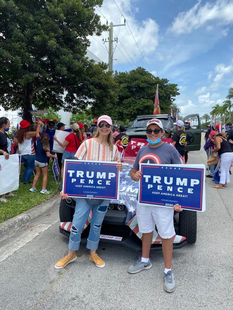 Great day here in Doral showing support for President Trump as he visits Miami! #Cat5Cavalry #LeadRight #KAG2020🇺🇸