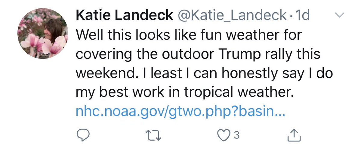 @Katie_Landeck Would like to draw your attention to this tweet of yours from one day ago.