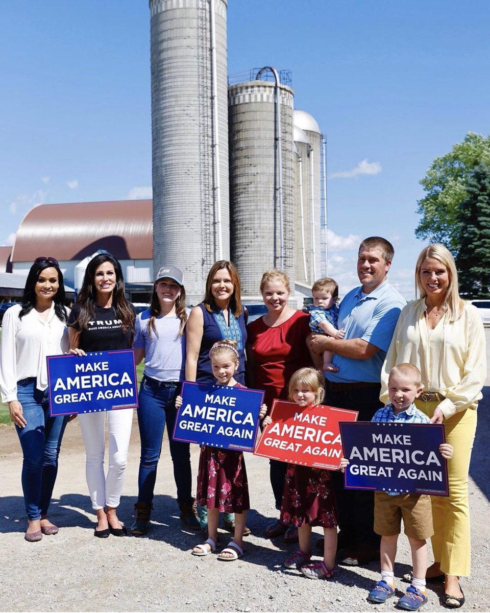 Day 2 on @TrumpWomensTour in #Wisconsin We ❤️ Dairy Farms! @TeamTrump