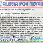 RT @DcChubut: #Nevadas persistentes (Alerta Meteorológico Nro 16) https://t.co/D8keJpLOEv