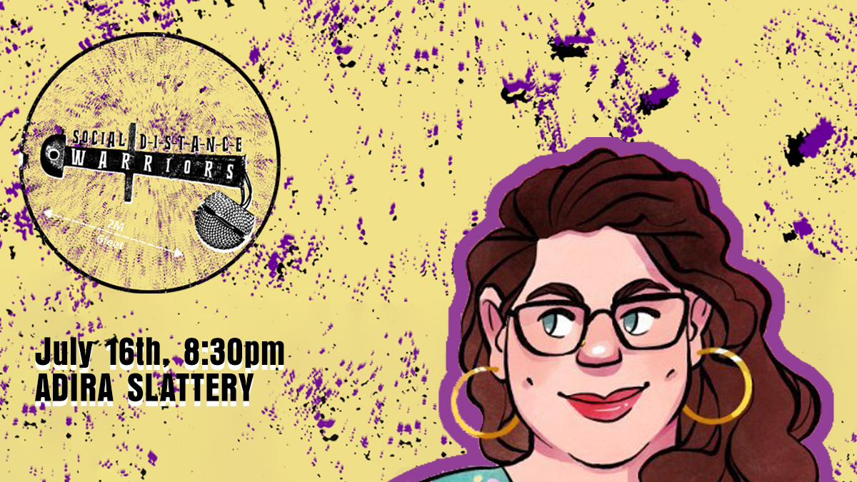 A creator whose work spans horror, comedy and lyrical design, @AdiraSlattery is a game writer who we fell in love with when we found her 200 word anti-fascist makeout LARP Kissing Comrades  Play it with your favourite people and catch her on our next show
