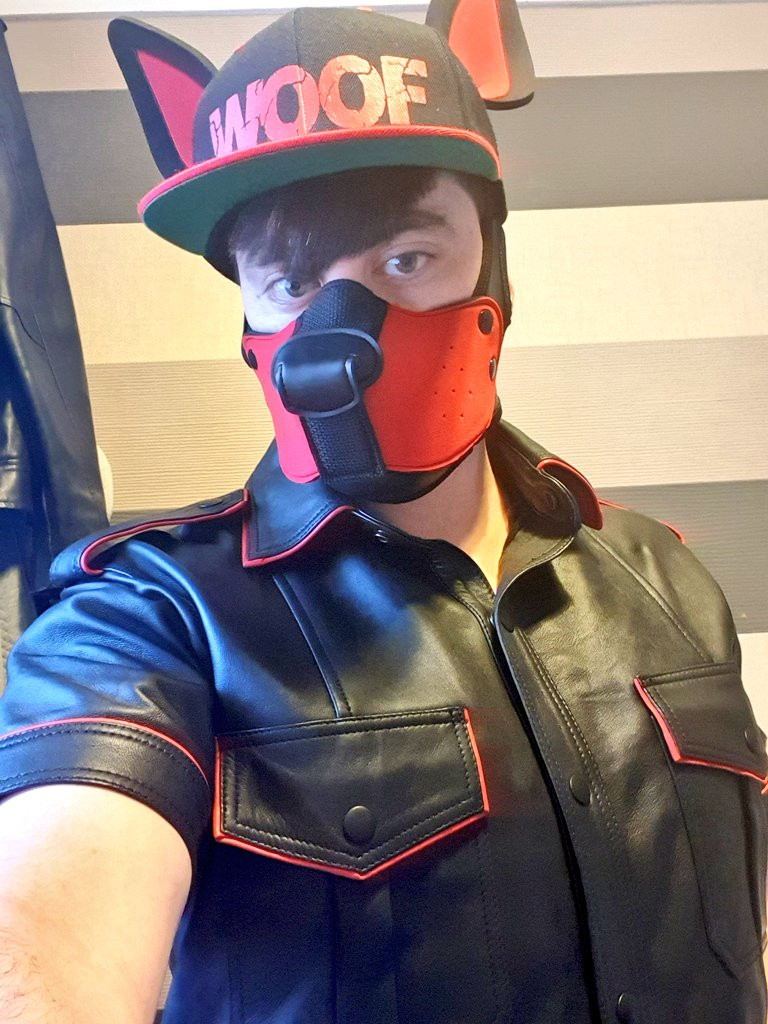 Thought I'd post something a little different for a bit. I can do alpha leatherpup too 👀🐶🐾 #leatherboy #leatherpup #gaypup #humanpup #pupplay