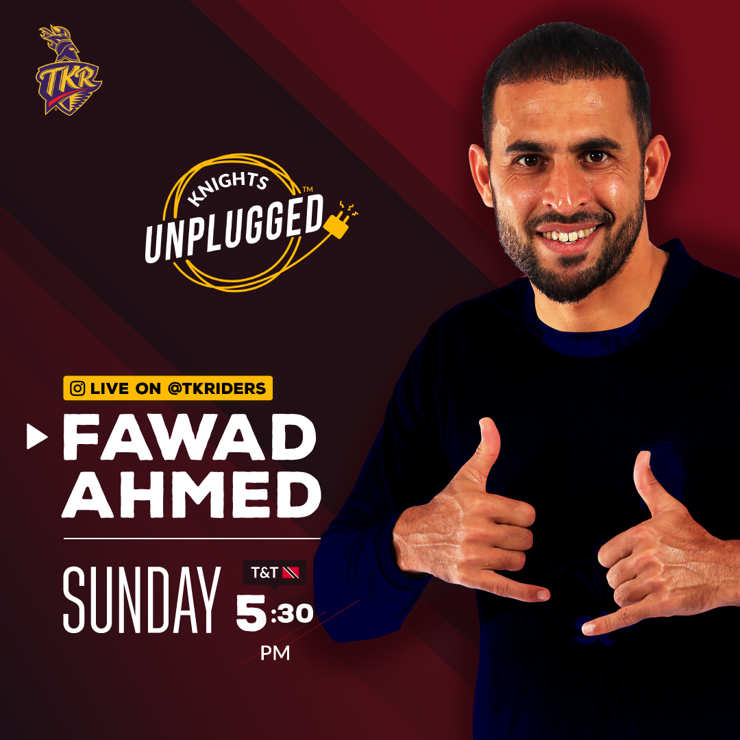 Fawad Ahmed is back! And here's your chance to catch up with him, live on our Instagram at 5:30 PM Tomorrow (Sunday, 12 July)  Have questions for @bachaji23? Send them to us and we will pick some of the best ones for the show!  #TKR #TrinbagoKnightRiders #Cricket #CPL2020
