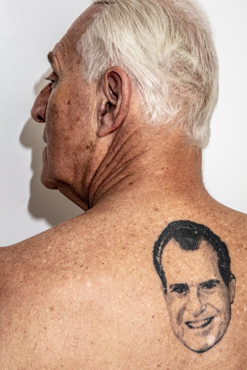 Without 40 months to serve in prison, I imagine Roger Stone now has time to get Trump tattooed on his back next to his tattoo of Richard Nixon. #Ick.