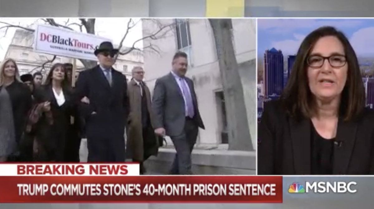 .@JoyceWhiteVance: #RogerStone was convicted of trying to protect this president... Now that it's clear that this president abused the pardon power... There is absolutely no outcry from anyone other than #MittRomney on the Republican side of the aisle... #AMJoy