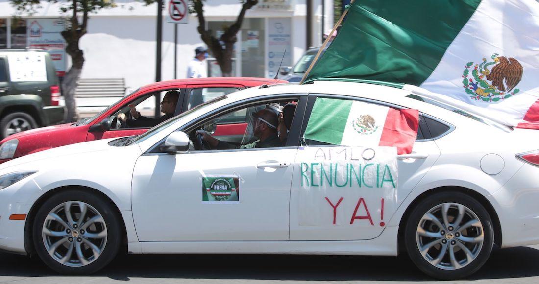 #VIDEOS: Ciudadanos salen, por cuarta vez, a manifestarse en sus vehículos contra el Presidente
