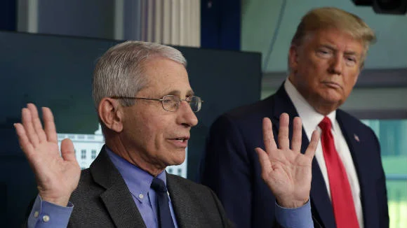 "Fauci pushes back on Trump claim that 99 percent of COVID-19 cases are ""harmless"": ""Obviously not"""