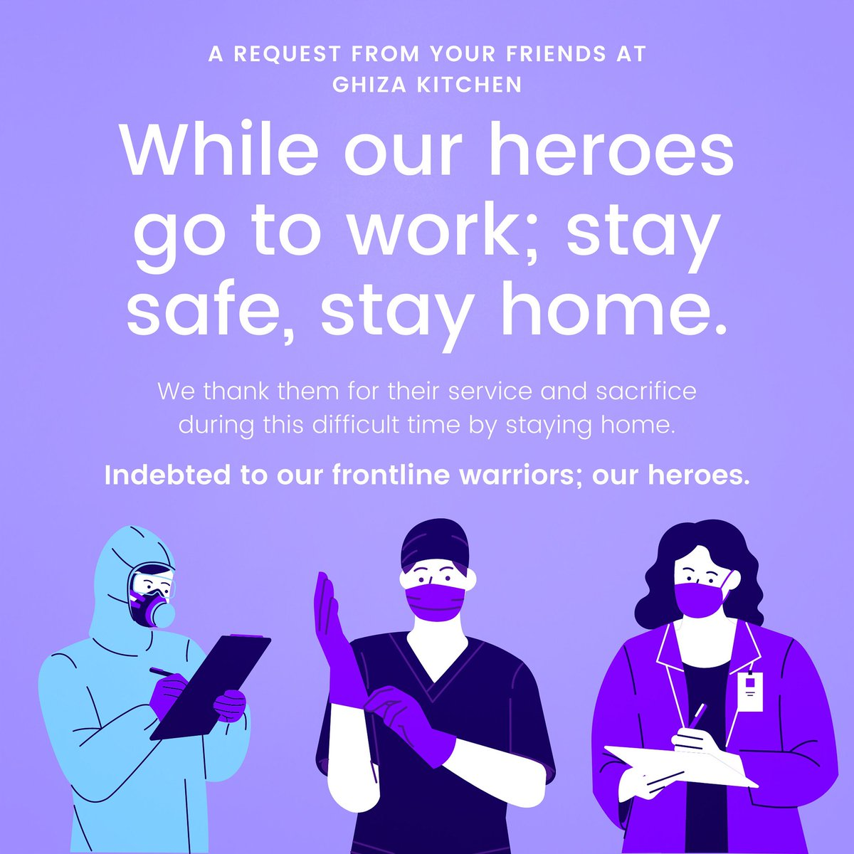 Stay safe. Stay home. 🙏🏼😊❤️ #frontlineworker #doctor #nurse #caregivers #police #pharmacist #essentialservices #staysafe #stayhome #stayhomestaysafe