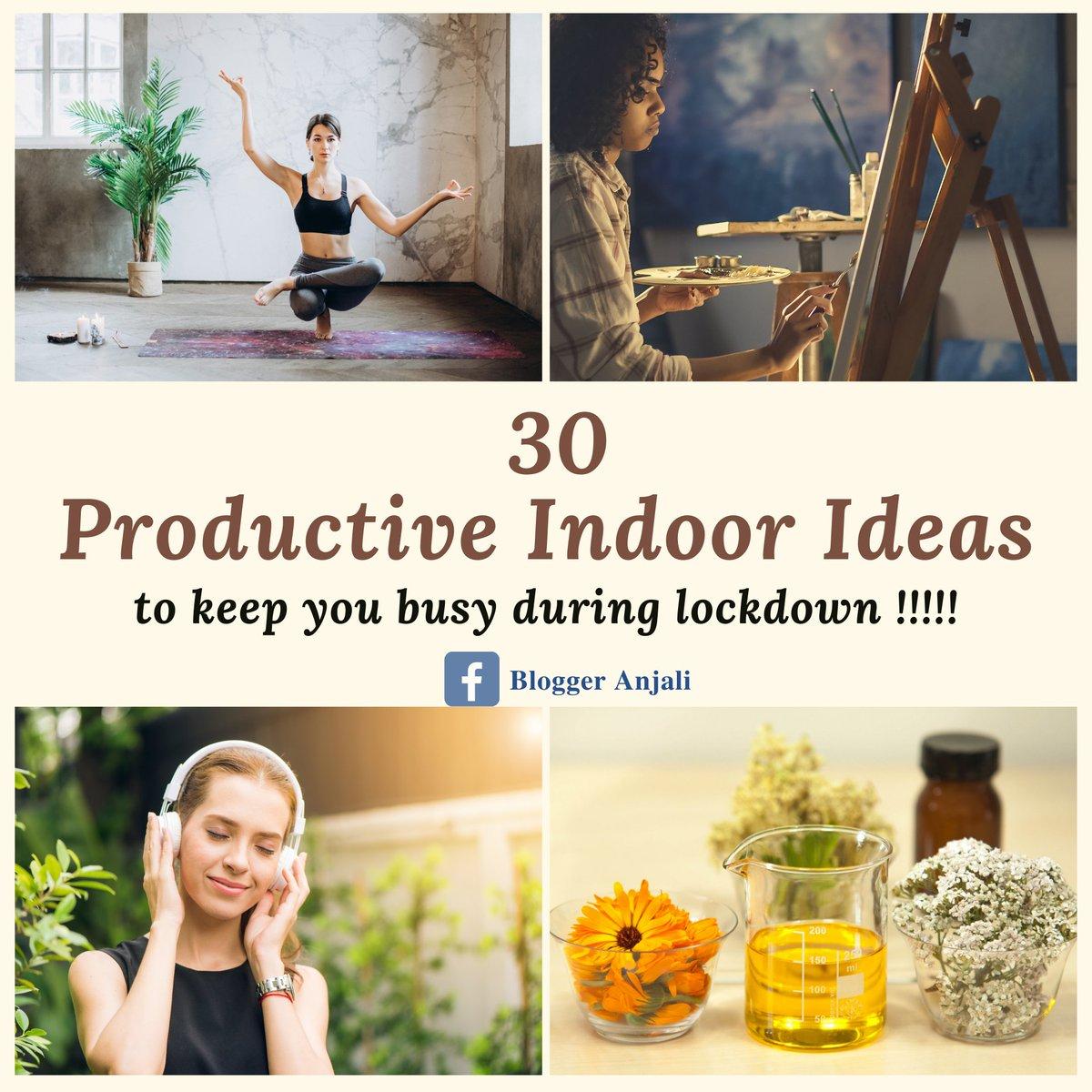 Click here to know the interesting ideas👇  #Productivity #indoor #ItsOkayToNotBeOkay #QuarantineLife #stayhome