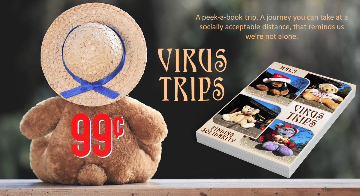 VIRUS TRIPS meanders through the lives and thoughts of a few individuals as they contend with new lives in the shadow of #Covid_19.  📌 #99cents on #Amazon   #COVID19 #shortstories #IARTG #BookBoost #amreading #MUSTREAD  #bookworms #readers