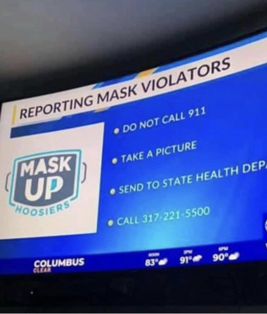 Reporting Mask Violators ?  This is getting ridiculous.  RT if you are not going to report someone for not wearing a mask.