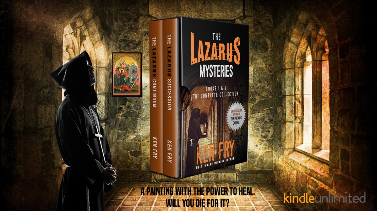 Read THE LAZARUS MYSTERIES Omnibus Collection 👉 What will you do to possess a painting with the power to heal? #FREE with Kindle unlimited  #mustread#awardwinning #novel #SUSPENSE #THRILLER  #religiousmystery #amreading #IARTG #BYNR #IAN1 #books