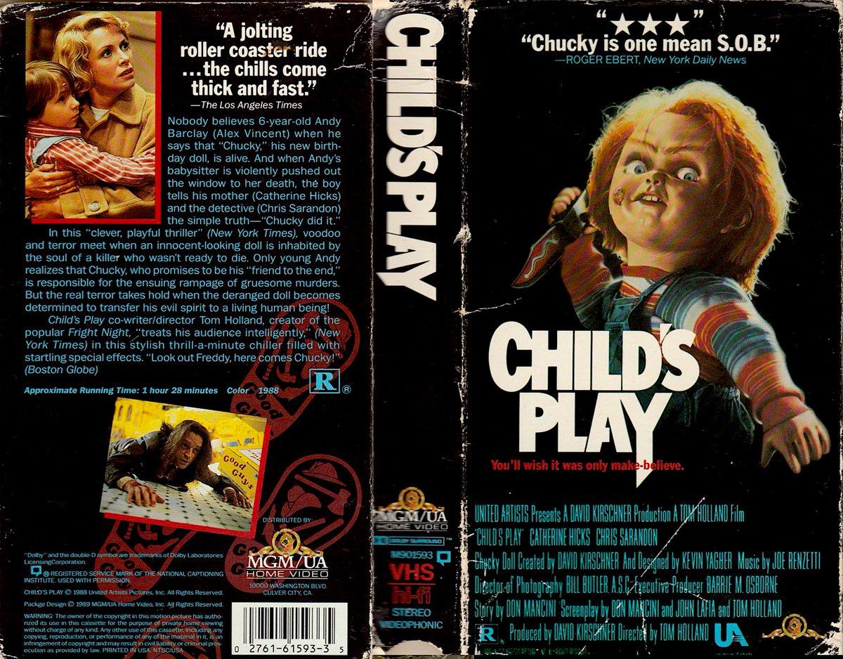 CHILD'S PLAY (1988) 1st time #Chucky starring Brad Dourif #horror #VHS
