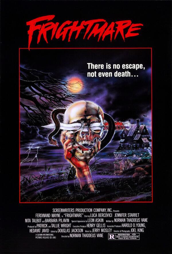 FRIGHTMARE (1983) #horror #poster Skeletons&Skulls