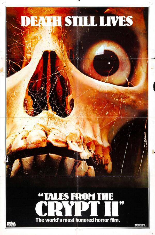 TALES FROM THE CRYPT 2 ~ THE VAULT OF HORROR  #horror #poster keletons&Skulls