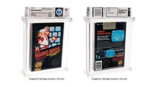 Cartucho de Super Mário Bros é vendido por R$ 600 mil.