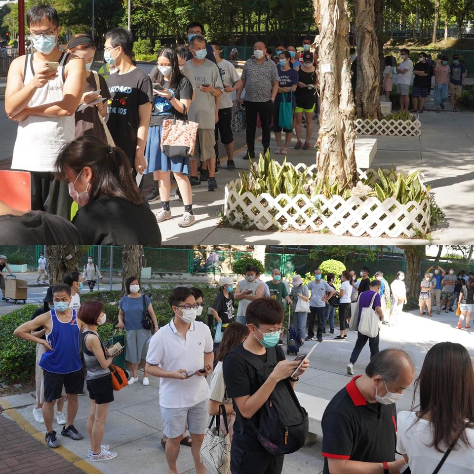 1. Today is the last day for our pro-democracy primaries. Over 230,000 #HKers have already cast their votes yesterday, well exceeding the original target turnout. With this significant turnout, I am really proud of everyone who has queued and waited in the summer heat.