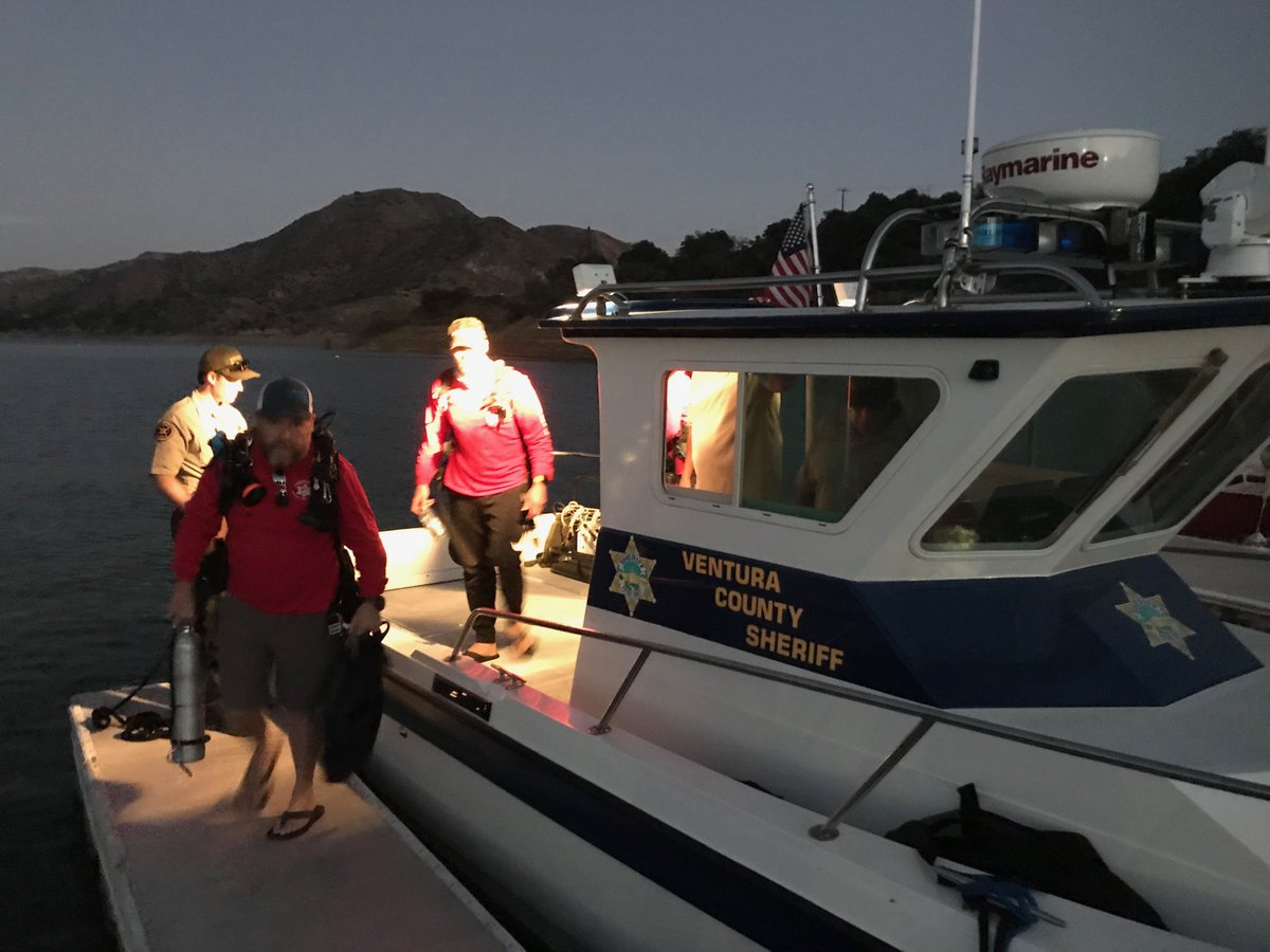 Today's search operation at Lake Piru is winding down. The mission will resume Sunday morning in the ongoing effort to locate Naya Rivera.