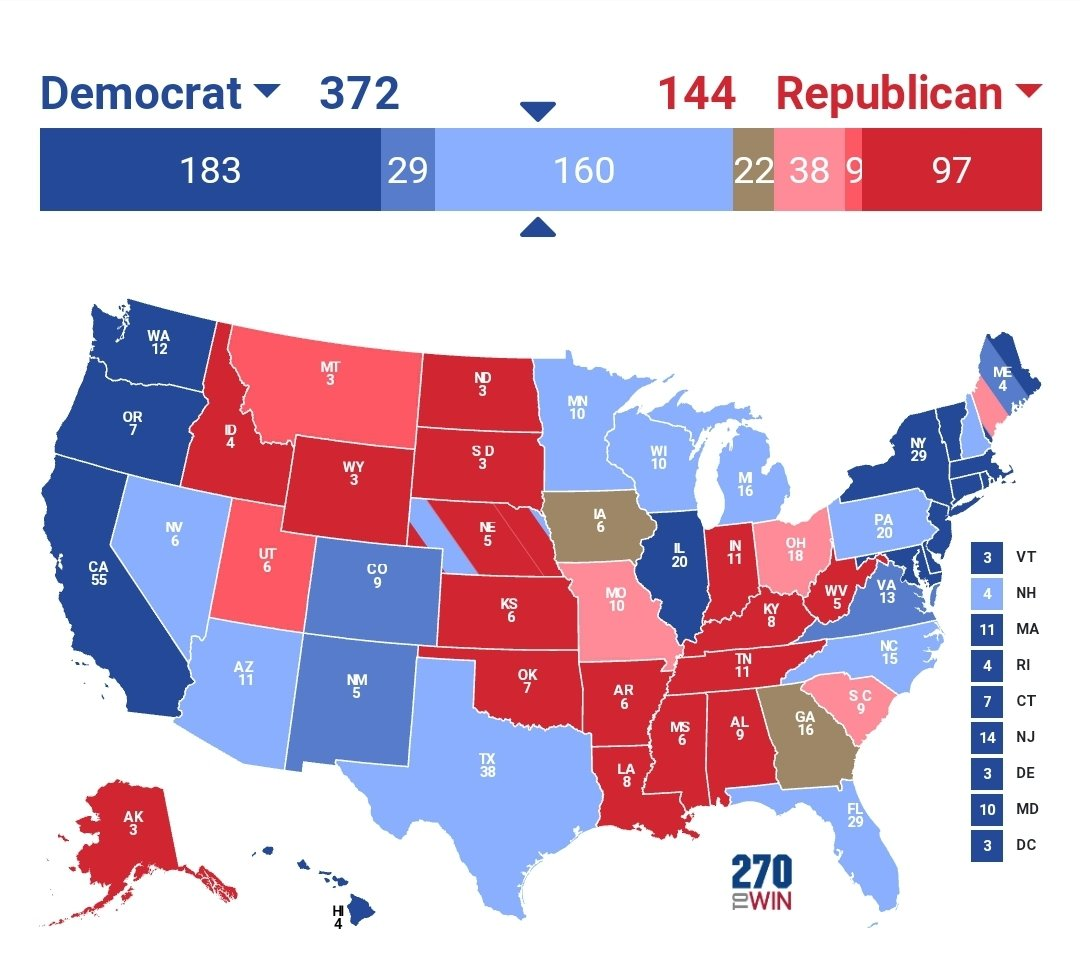 This is what the race looks like today with Biden +5 in TX. It's a GOP cataclysm.  Don't vote like Biden is down twenty points, he's not. Vote like this time, we can end the Republican party once and for all.