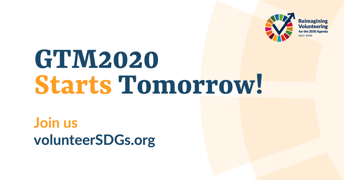 📢WHAT'S COMING ON 13 JULY 2020?  Around 10,000 people from #UN Member States, #INGOs, civil society, the private sector & #academia will come together to discuss evidence, trends, contributions, and the future of #volunteering! #volunteerSDGs #GTM2020 #HLPF2020 Stay tuned!