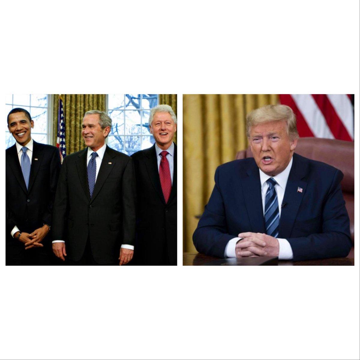 Commutations by President:  Trump:        10 Obama:  1,715 Bush:            11 Clinton:        61