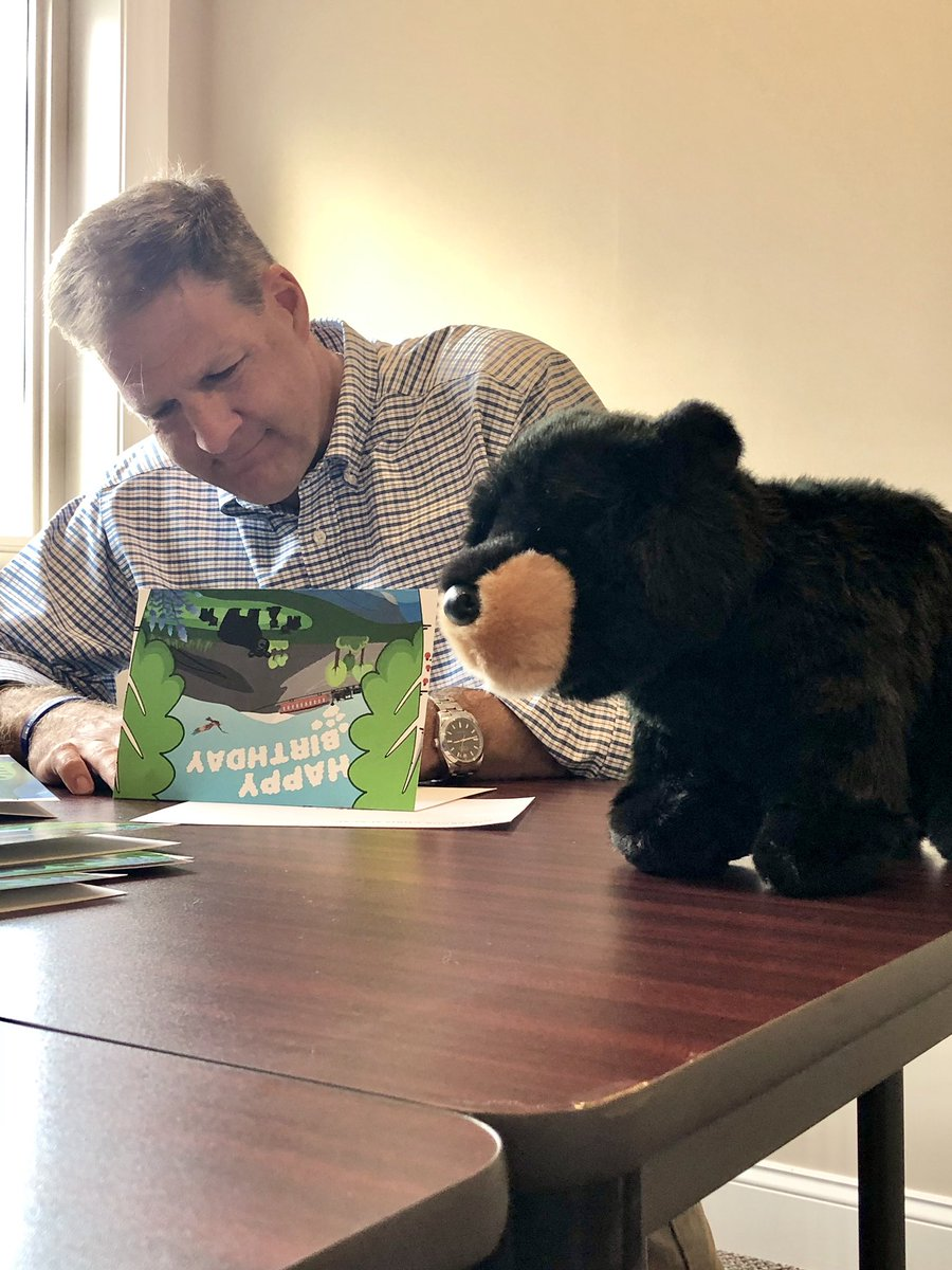 I signed my 5,501st birthday card earlier this week, with a new card design featuring Mink the Bear and her three cubs. To celebrate I sent Olivia, the first to receive the newly designed card, a special stuffed friend too.  Request a signed birthday card: