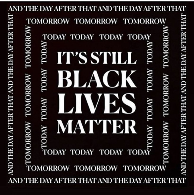 Also.   #BlackLivesMatter #istandwithyou    (Not sure who to credit for the visual)